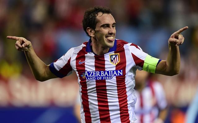 Chelsea target Atletico Madrid defender Diego Godin