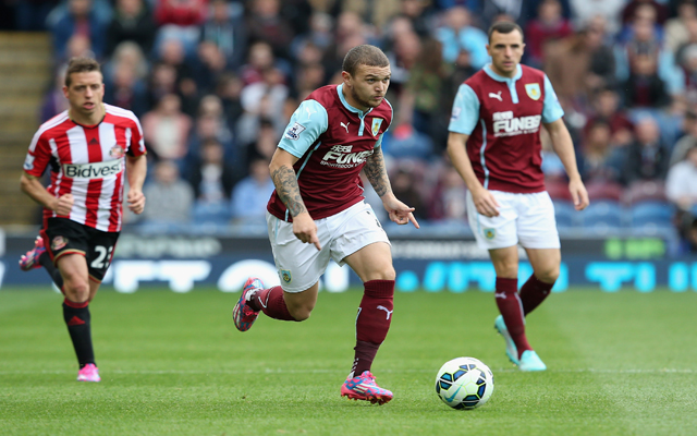 BURNLEY, ENGLAND - SEPTEMBER 20:   Kieran Trippier of Burnley in action during the Barclays Premier League match between Burnley and Sunderland at Turf Moor on September 20, 2014 in Burnley, England.  (Photo by Jan Kruger/Getty Images)