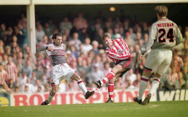 Barry Venison (Southampton) Ryan Giggs (Man utd) Premier League  13.4.1996 Southampton 3 Man Utd 1 Photos    Shaun Botterill