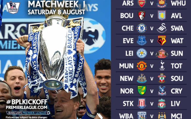Premier League opening day fixtures: Chelsea open title defence vs Swans