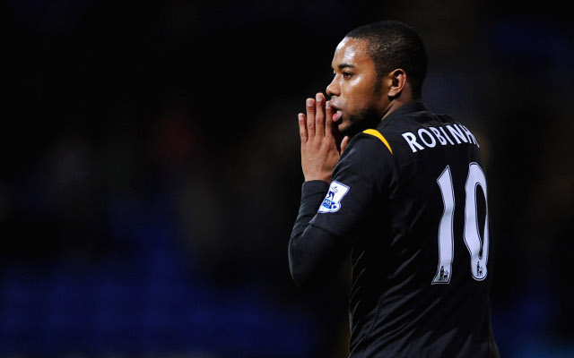 BOLTON, ENGLAND - DECEMBER 12: Robinho of Manchester City shows his dissapopintment during the Barclays Premier League match between Bolton Wanderers and Manchester City at The Reebok Stadium on December 12, 2009 in Bolton, England.  (Photo by Laurence Griffiths/Getty Images)