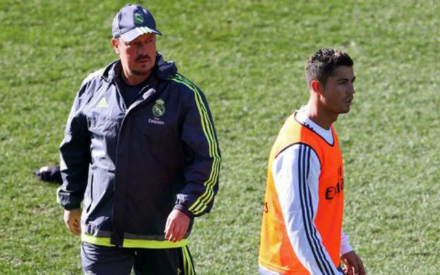 (Video) Cristiano Ronaldo has MASSIVE tantrum at Rafa Benitez's Real Madrid training sessions