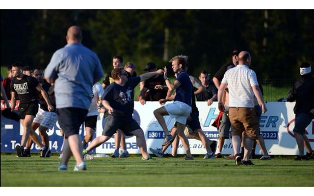 (Video) TWENTY ARRESTED as Leeds United fans brawl wildly during pre-season friendly