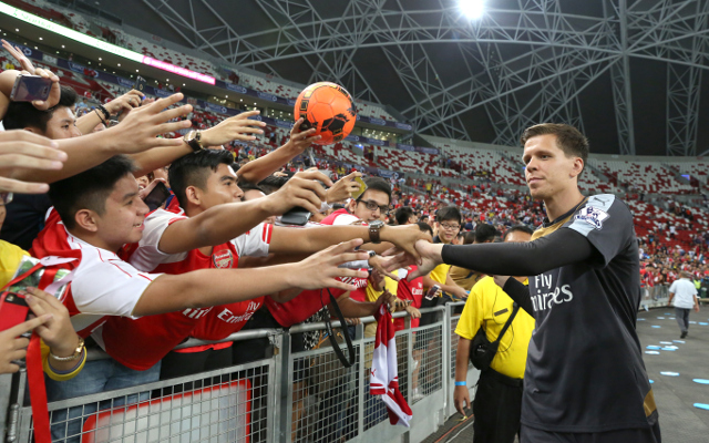 during the Barclays Asia Trophy match between Arsenal and Singapore Select XI at National Stadium on July 15, 2015 in Singapore.