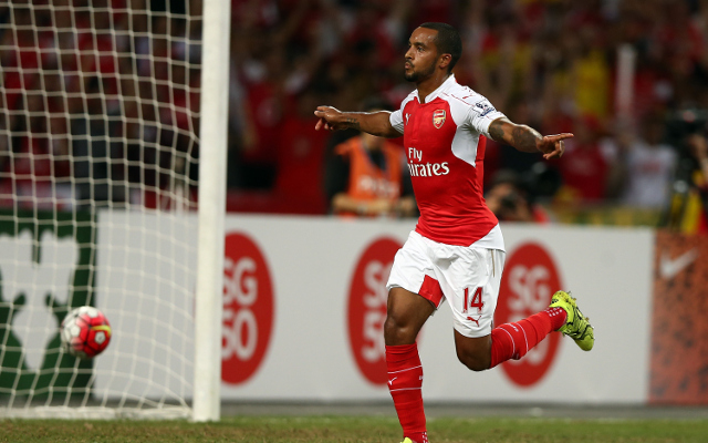 Theo Walcott drew the wrath of Arsenal fans [Tweets]