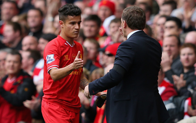 Liverpool boss Brendan Rodgers admits he's stunned that Philippe Coutinho was left out of Brazil squad