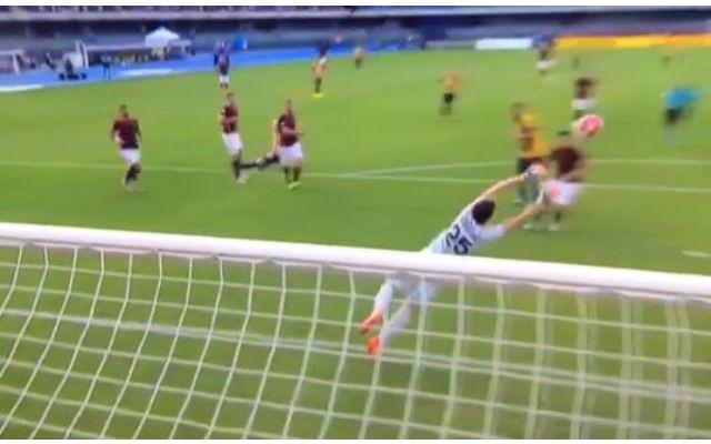 (Video) Arsenal loanee Wojciech Szczesny makes WORLD CLASS double save for Roma