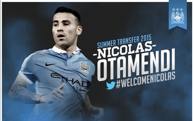 Done deal: Man City beat United to signature of defender Nicolas Otamendi