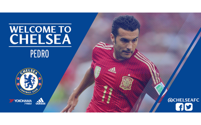 Done deal: Pedro completes £21m move to Chelsea