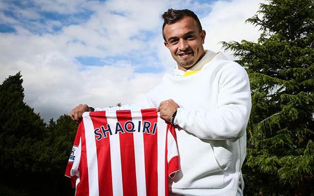 Done deal: Xherdan Shaqiri completes club record £12m move to Stoke City