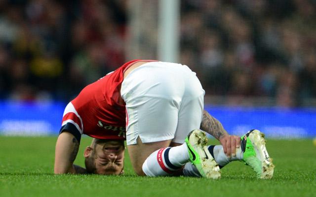 wilshere arsenal injury