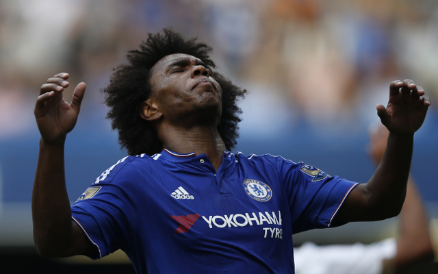 Chelsea without Willan for Arsenal game, but Pedro could feature