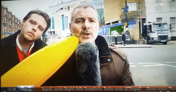 Video: Deadline Day coverage gets interrupted by a giant inflatable Banana!