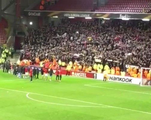 Liverpool opponent celebrates European loss at empty Anfield [Video]