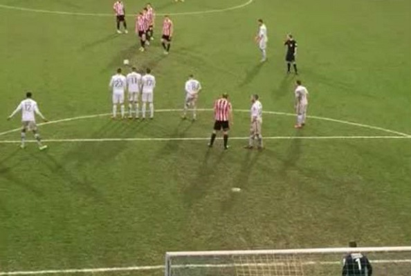 British amateur club fails miserably at innovative free kick [Video]
