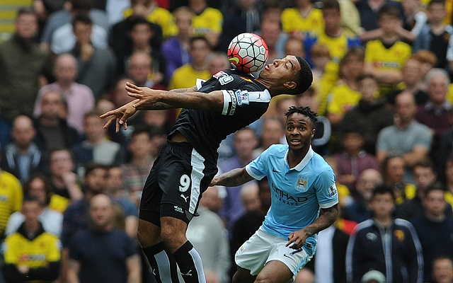 Aguero scores hat-trick in Manchester City's 6 - 0 win over Watford