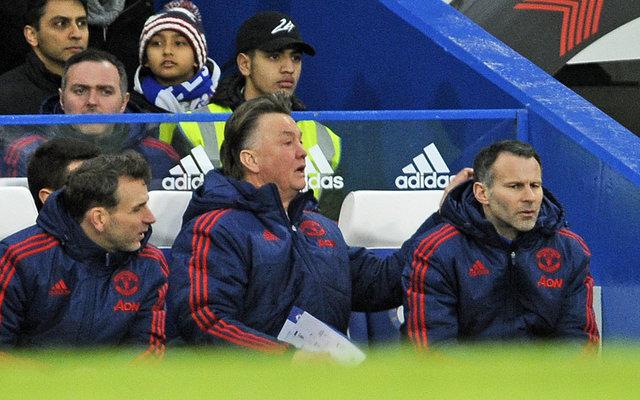 Manchester United fans criticized Louis van Gaal's decision-making against Chelsea