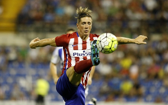 epa04877785 At. de Madrid´s forward Fernando Torres during the friendly soccer match played against Real Sociedad at Rico Perez stadium, Alicante, Spain, 08 August 2015.  EPA/Morell