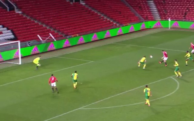 Manchester United starlet scored stunning goal against Norwich [Video]