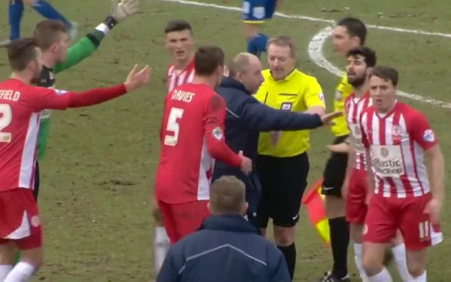 Referee blows for half-time…while League Two team score [Video]