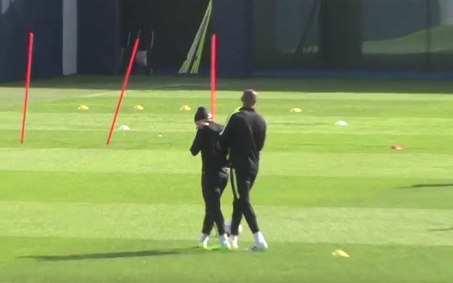 BAM! Vincent Kompany hits Sergio Aguero right in the face [Video]
