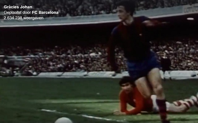 Barcelona honor Johan Cruyff with beautiful video