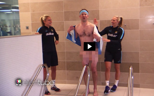 Reporter meets Joe Hart and strips naked among Manchester City Ladies [Video]