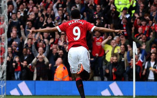 Anthony Martial scored a landmark goal for Manchester United