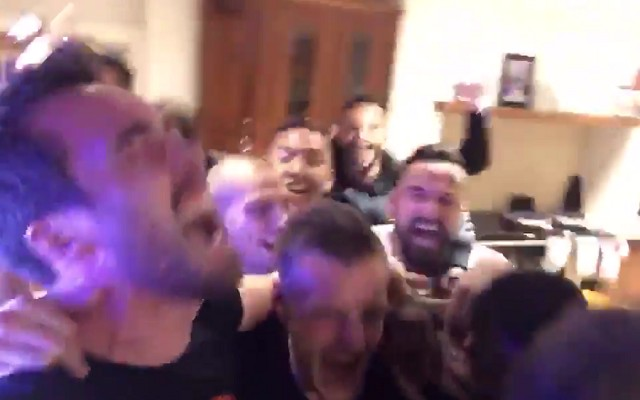 ICYMI: Leicester players go nuts at Jamie Vardy's place after winning the Premier League [Video]