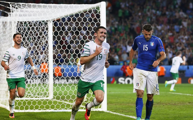 The scenes after Ireland's winning goal against Italy were crazy