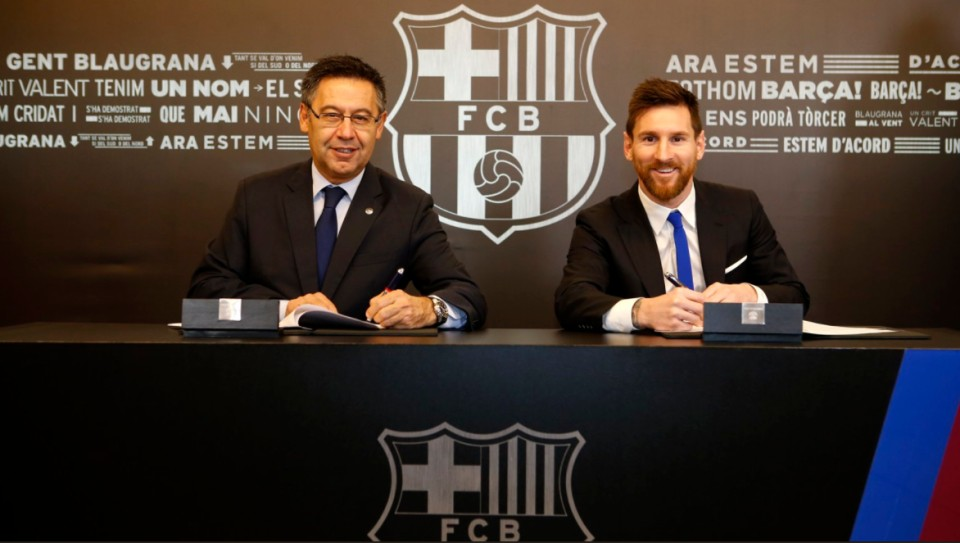 Lionel Messi Signs New Deal
