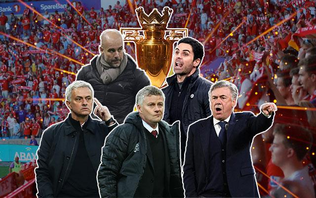 Jose Mourinho, Mikel Arteta, Jurgen Klopp and Ole Gunnar Solskjaer