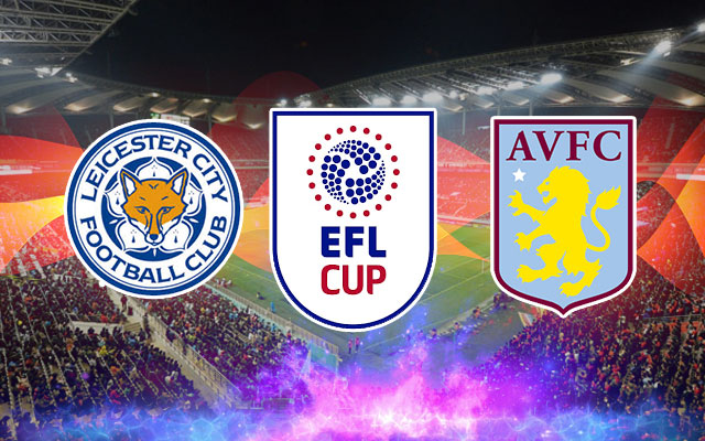 Leicester City, Aston Villa and EFL Cup Logos
