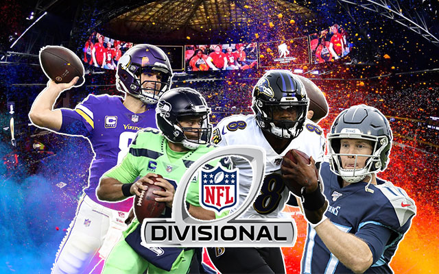 Kirk Cousins, Russel Wilson, Lamar Jackson and Ryan Tannehill NFL Divisional Round