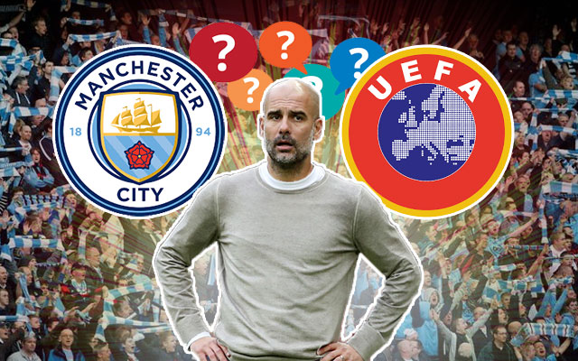 Pep Guardiola and Manchester United Logo