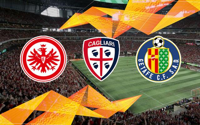 Eintracht Frankfurt, Cagliari and Getafe Logos