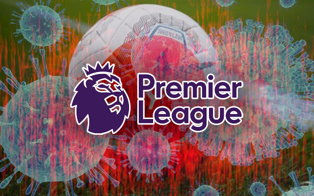 English Premier League Logo Coronavirus