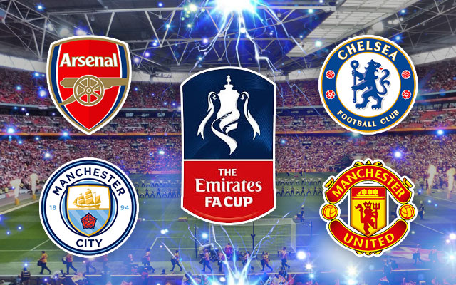 FA Cup, Arsenal, Manchester City, Chelsea and Manchester United Logos