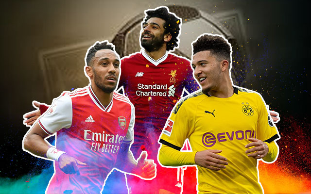 Pierre-Emerick Aubameyang, Jadon Sancho and Mo Salah Football Stars