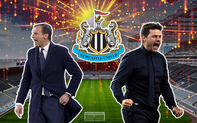 Massimiliano Allegri and Mauricio Pochettino Newcastle