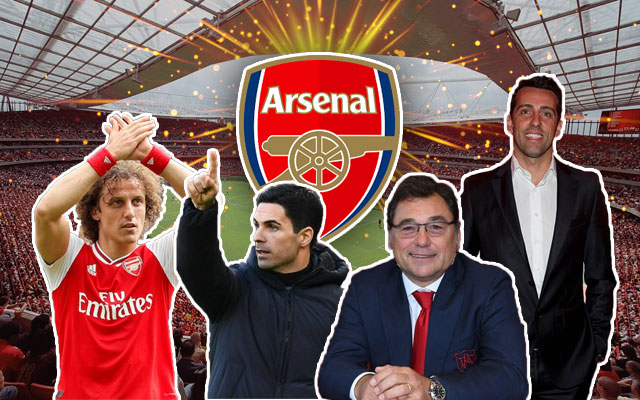 Arsenal, David Luiz, Mikel Arteta, Raul Sanllehi, Edu Gaspar